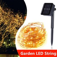 10M 20M Solar Power LED Holiday Light Copper Wire LED String...