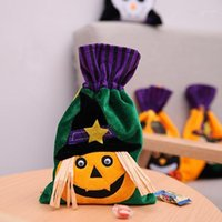 Borse del partito di Halloween carino borsa regalo dolce o scherzetto per bambini regalo zucca non tessuto cassone scatole di caramelle di halloween partito decorazione fornitures1