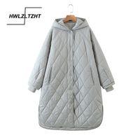 Hwlzltzht 2021 de alta qualidade jaqueta de inverno mulheres plus tamanho longo elegante casaco de inverno com capuz aquecido aquecido jaqueta parka