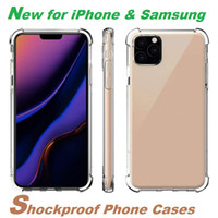 Прозрачный телефон чехол для iPhone 12 11 мини Pro MAX XS XR 8 7 Plus Samsung Note S20 S10 ТПУ Защитная крышка 20 Ультра Ударопрочный Clear Case