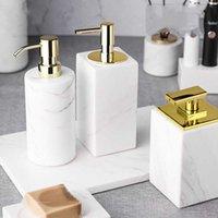 Accesorios de baño Conjunto de mármol Accesorios de baño Organizador Decoración del hogar Loción Botella Dispensador de jabón Emulsión Latex