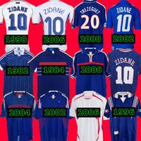 1998 2002 Zidane Henry 1996 2004 1984 Trezeguet 1982 결승 2006 Deschamps 2000 2010 프랑스 레트로 축구 유니폼 Maillot 드 Footbal Shirt