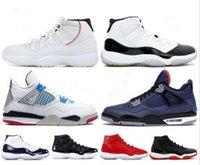 2020 Melhores 11 11s Mens Sapatos de Basquete 4 Criado Branco Metálico Prata Concord 45 Espaço Jam Winterized Leyal Azul Que designer Sneakers