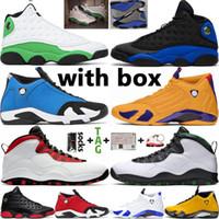 2021 Jumpman Mens Basketball Shoes University Gold 14 14S 체육관 레드 하이퍼 로얄 13 13S 럭키 그린 10 10S 여성 트레이너 스포츠 스니커즈