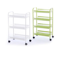 3 Schichten aus beweglichem Klappregal und Stahlrohr Multifunktionale Kücheninselschrank Aufbewahrungsbox