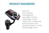 D5 무선 블루투스 자동차 MP3 플레이어 라디오 자동차 블루투스 FM 송신기 오디오 어댑터 스피커 빠른 USB 충전기 AUX LCD 디스플레이