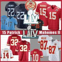15 Patrick Mahomes 2021 Fußball Jersey Derrick Henry 32 22 Ryan 87 Tannehill Travis Kelce Tyrann Mathieu Tyreek Hill