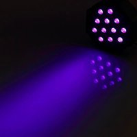 Nyaste Design U'King LED-effekt 72W ZQ-B193B-YK-US 36-LED Lila Ljusstad DJ KTV PUB Högkvalitativ ljus Voice Control