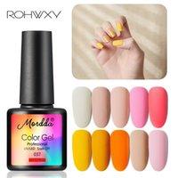 ROHWXY UV Nail Gel Polish For Manicure 3 6Pcs Set Gel Nail Varnish For Art Painting Base Top Coat Art Polish