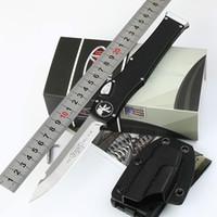 나이프 마이크로 테크 150-10 Halo V 6 Elmax 블레이드 알루미늄 합금 핸들 전면 자동 전술 UTX 85 knifes