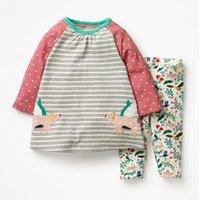 Pequeno Maven 2-7years Outono Animal Criança Crianças Menina Crianças Fall Roupas Set Meninas Boutique Outfits Kits Roupas para Bebê Y200325