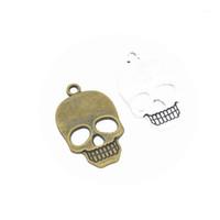 8шт чармы череп 35x22 мм античный серебряный бронзовый ювелирные изделия изготовления очаровательных серег ожерелье браслет Handcraft1