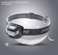 Mini sensor inteligente diodo emissor de luz diodo emissor de luz diodo emissor de luz diodo emissor de luz led headlamp usb recarregável indução infravertida ir farol 6 modos sensoriando tocha lâmpada + cabo USB