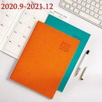 새로운 A5 Agenda 2020 2021 Planner Luxury Notebook Daily Weekly 월간 Journal DIY Handbook 학교 용품 Stration1
