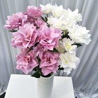 Três cabeças Simulação Flores DIY Manual Narcissu Peônia Desktop Decore Flor Artificial Arranjo De Moda Venda Quente 2 5YL J1