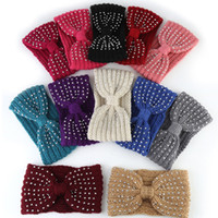New Winter Warmer Ear Knitted Headband Bow Rhinestone Headwe...