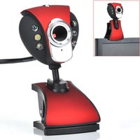 New USB 500 6-LED Webcam Camera Webcam com miniphone para PC portátil