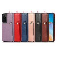 Casos de slot para cartão de crédito para Huawei Mate 30 Pro 20 P30 Lite P40 P40 PU Couro Flip Cover Botão Botão Voltar Celular Telempo Moda