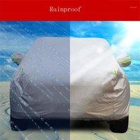 Cubierta interior al aire libre cubierta de coche completo sol UV Snow Resistente a la nieve Protección para Hatchback Tres carruajes Cubiertas de automóviles de vehículos todoterreno1