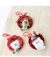 Рождество маленький клетчатый европейский стиль гирлянда пены кулон ручной работы венок елочные украшения для пожилых людей Dropshipping F8501