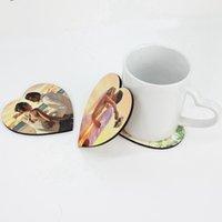 DIY PARA MATERIAS DE CUP DE REGALO EN BLANCO MATERIAL AISLACIONADA SEMI-TERMINADA Coseadora de madera Sublimación Matera de corcho Mat de corcho Publicidad Regalo Promoción LLA88