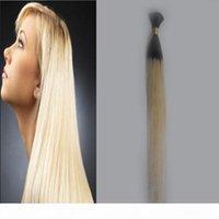 브라질 꼰 머리 대량 벌크 없음 Weft 100G 인간의 머리카락 대량 1 PCS T1B 613 옴 브레 인간의 머리카락 땋는 대량 첨부 파일 없음