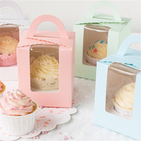 핸들 지우기 창 0 35zx F2와 디저트 초콜릿 선물 상자 식품 보관 케이크 쿠키 스낵 컨테이너 싱글 컵 케이크 케이스