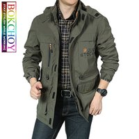 Bomber Jacket Men Autumn Winter Multi- pocket Waterproof Mili...