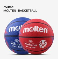 Spalding Molten Fiba China Баскетбольный мяч Кубок мира Красный Дракон Узор Резиновый Износостойкий Игра