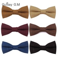 High Quality Cotton Wool Bowtie For Men Casual Neties Plaid ...