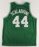 Ucuz Custom # 44 BRIAN Scalabrine Basketbol Jersey Erkekler Dikişli Beyaz Yeşil Herhangi Boyut 2XS-4XL 5XL İsim Numara Jersey Ücretsiz Kargo