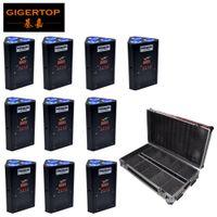 مبيعات المصنع مباشرة DJ تصميم Uplight DMX512 البطارية 3x18W RGBWAP LED الأشعة تحت الحمراء التحكم صالح تروس معلقة 10IN1 شحن حالة الطريق