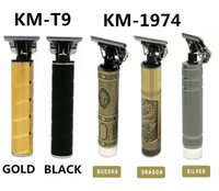 W magazynie !! Kemei km-T9 km-1974 Pro Li T-Outliner Szkielet Heavy Hitter Cordless Tremimer Mężczyźni Baldheaded Hair Clipper Maszyna do cięcia