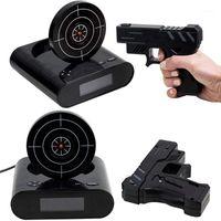 1 Takım Tabancası Çalar Saat / Ateş Çalar Saat / Silah saati Kilit N yükleme Hedef Ofisi Gadgets1