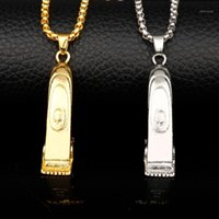 체인 Dongsheng 도매 이발소 미용사 도구 3D 면도기 블레이드 펜던트 목걸이 가위 가위 Clippers Creative Jewelry-301