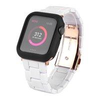 أزياء راتنج حزام المعصم ل Apple Watch 6 SE سلسلة السلسل 6 حزام ناعم ل iWatch 44 40 سوار خفيف الوزن وقضية TPU لمدة 38 42