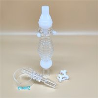 Hot populaire New Wave Nectar Collectorx sertie d'un quartz 14mm Nail Un connecteur Plastical Un bol en verre pour verre de paille Bongs