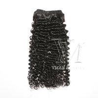 VMAE 뜨거운 판매 인도 100 처녀 인간의 머리 200G 3B 11A 자연 색상 클립 INS 머리 곱슬 확장 유행 소프트