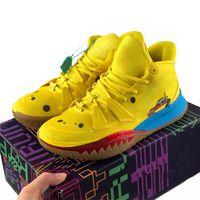 Venta caliente USA Zapatos de baloncesto Kyries 7 VII MR BOB HENDRIX UNA UNIVERSIDAD NEGRA UNA UNIVERSIDAD ROJA TINTO DE ICED MENS MENS IRVING BLOCKED AQUA SPORTS SHOETS