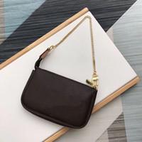 클래식 미니 숙녀 크로스 바디 가방에는 선물 상자 M58009 Essentials 작은 파우치 여성 디자이너 작은 가죽 클러치 레이디 크로스 바디 체인