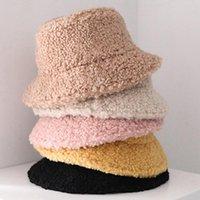 Агнец шерсти вязать Рыбак Hat взрослые мужской Cap Моды Открытого ВС Путешествие Повседневного Горшок Ведро Caps Flat Top Hat
