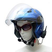 Vnetphone v4 블루투스 오토바이 헬멧 헤드셋 블루투스 인터콤 인터폰 시스템 4 명의 라이더 그룹 동시에 같은 시간에