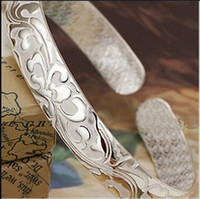 Drache Armreifen für Männer Frauen Junge Neue chinesische Art 925 Sterling Silber offene Armreifen Weißgold Überzogene Charms Armband 0026