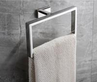 2021 منشفة رف 304 الفولاذ المقاوم للصدأ قلادة الأجهزة الحمام خاتم منشفة مشروع فندق فندق تزيين المنزل مربع بالجملة