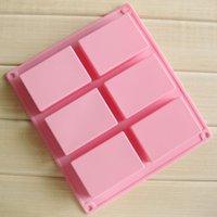 8 * 5.5 * 2,5 centímetros quadrados Silicone Baking Mold bolo Pan Moldes Handmade Biscuit Mold Soap GGE2007 molde