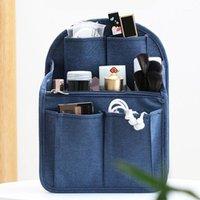 المكياج المنظم النايلون إدراج حقيبة لحقيبة السفر السفر الداخلية حقائب مستحضرات التجميل المحمولة تناسب مختلف أكياس العلامة التجارية 1