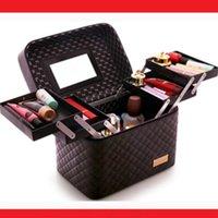 Cosmetic Bags & Cases 2021 Women Makeup Organizer Large Capacity Multilayer Clapboard Bag Case Beauty Salon Tattoos Nail Art Tool Bin