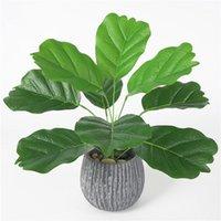 Yapay Bitkiler Sahte Yaprak Muz Yaprakları Ev Ofis Bahçe Çiçek Parti Decor1