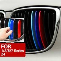 3D-Auto-Frontgitter Trim Sport-Streifen-Abdeckung für BMW F20 F21 E87 F45 F46 F22 F23 F01 G32 G11 E89 Z4 1/2/6/7 Series