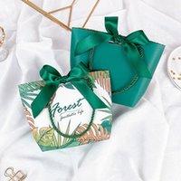 La festa di nozze favorisce i sacchetti di carta del confezionamento del contenitore di regalo con le maniglie del boite Drages Mariage Boite Boate Cadeau Flower Box personalizzato su misura 10pcs